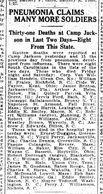 Casualty List  10141918 WWI by RCPL_SC