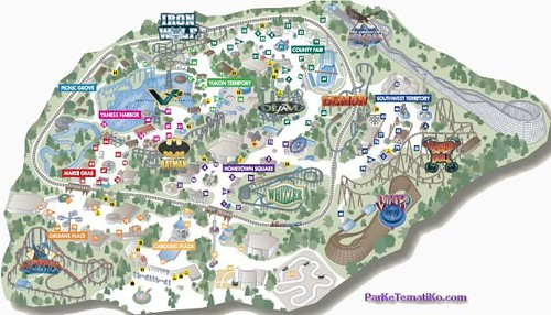 Map Of 6 Flags Great America.Suxeirox Six Flags Great America Map 2011