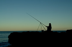 fisherman (Gazz.t) Tags: sea fish beach fishing dusk blast seaham angler seafishing seaangler