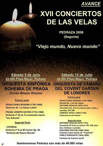 Avance XVII Conciertos de las velas PORTADA 2008