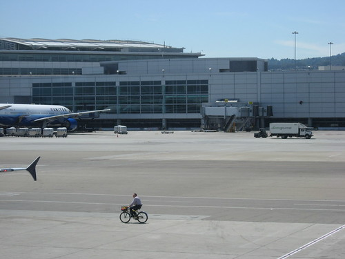 Staff Biking at SFO