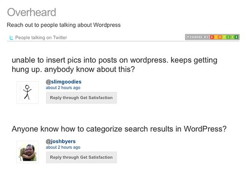 WordPress on Overheard