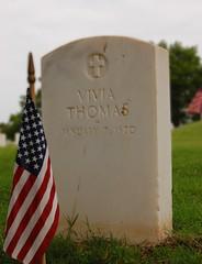 Grave of Vivia Thomas