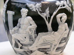 BJ965 The Portland Vase (listentoreason) Tags: uk england sculpture rome london art history archaeology glass museum canon europe roman unitedkingdom britain favorites eu places carving britishmuseum europeanunion romanempire ancientrome ancientworld greatbritian ef28135mmf3556isusm score30