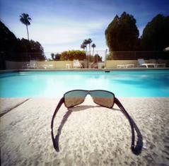 the pool to myself (Wendi Andrews) Tags: hot pool sunglasses palmsprings relaxing pinhole zero2000 zeroimage thesearetheverycoolshadesmyverycoolunclebillgavemewhenwegotthere thanksunclebill