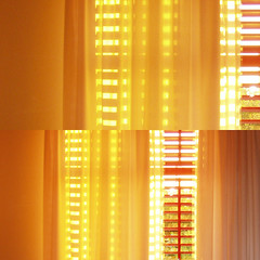 quanto mi manchi (duineser) Tags: light summer abstract texture window yellow composition diptych estate stripes curtain finestra giallo astratto luce composizione strisce tende dittico