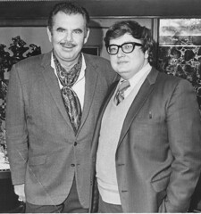 Russ Meyer & a young Edward Olive. (VEB Zardoz the Gravyboat) Tags: bw apple mono mac bn software iphoto schwarzweiss  filmset russmeyer weddingphotography  neengland edwardolive  skirtstitsofthenorthsea twogeniuses