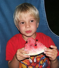 Eating Watermelon....