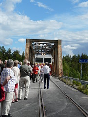 Train arriving over the bridge (skihippy74) Tags: bridge train sweden railway
