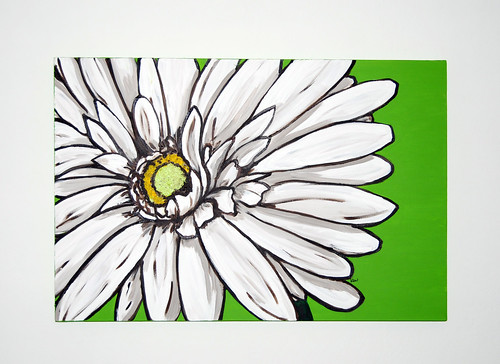 Kati Walker Art white daisy