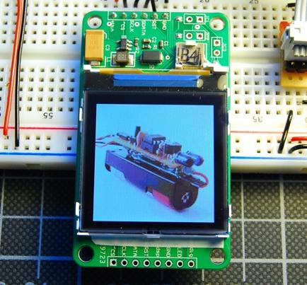 Flickr images on a Nokia LCD