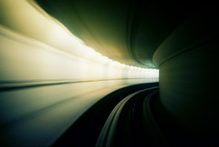 stansted airport transit #1 (lomokev) Tags: blur green speed airport movement track bend kodak perspective kodakportra400vc tunnel motionblur travail transit curve portra stansted stanstedairport kodakportra400 kodakportra roll:name=080623lomolca400asa file:name=080623lomolca400asa060
