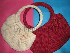 Fat Bottom Bag (ateliedamarina) Tags: bag crochet bolsa croch fatbag
