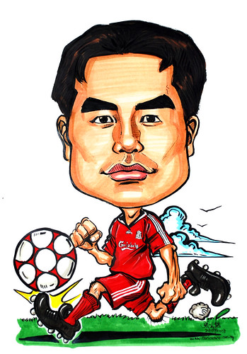 Caricature Liverpool player