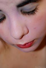 (Heartineruption) Tags: portrait woman girl face mouth nose person persona mujer eyes nikon chica cara ojos boca pintura nariz maquillaje pestaas cejas prpados nikond40x