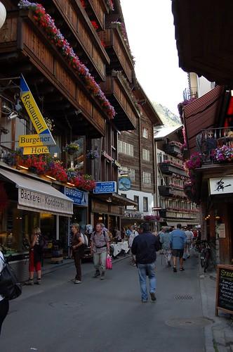 Zermatt中央通り