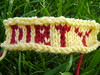 Intarsia Knitting: DIRTY