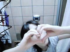 ([sarahdeassis]) Tags: loving sarah coração now banheiro pijama