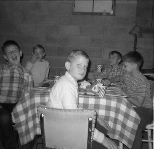 Birthday party - Sean Cridland, Jim Subik, Harold Teetz, Rich VanNostrand