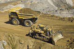 Komatsu 830e haulpak and Cat d11 dozer (dalinean) Tags: west cat mine open cut large sigma australia mining caterpillar huge dozer machines coal sd10 griffin quarry komatsu immense haulpak collieaustralia