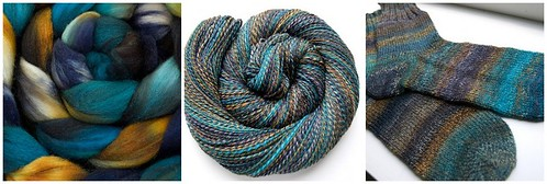 From fiber to sock: All Spun Up merino/silk in Haleiwa (SAL fiber)