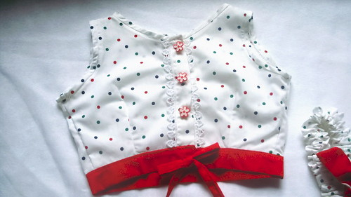 Flowers & Polka Dots Top for Girls