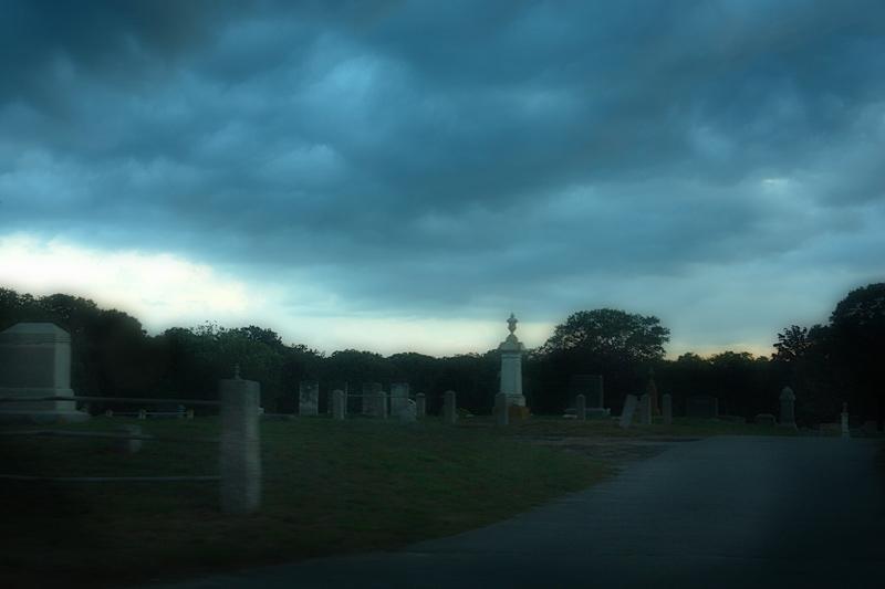 cemetery in hailstorm