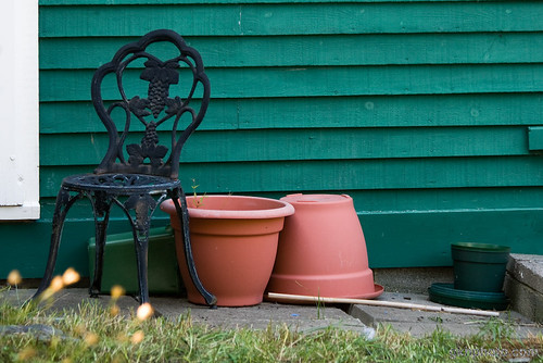 Chair & Pots