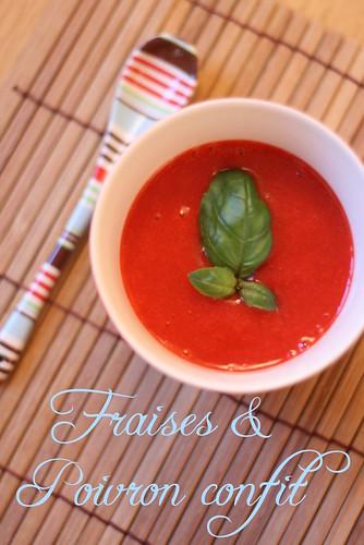 Soupe d'éte aux fraises