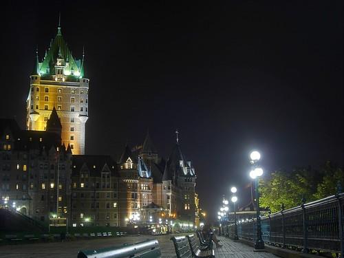 Das Chateau Frontenac bei Nacht
