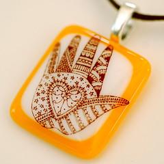 Mehndi Hand by Glassprimitif (lawatha) Tags: art hand heart handmade etsy mehndi dawanda glassprimitif cgge glassanarchy