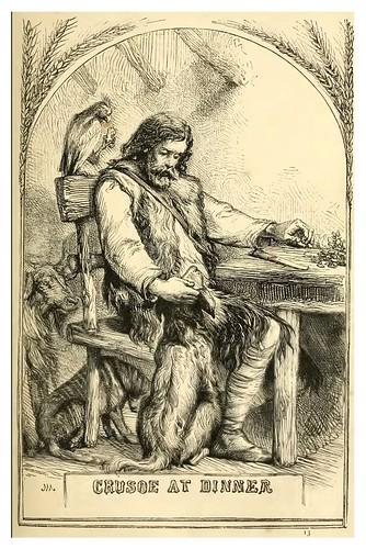 13- Robinson Crusoe cenando