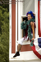 Window Dressing (photo.klick) Tags: show window girl alaska ak boa photoblog entertainment skagway cancan performer goldrush bloomers katsingercom