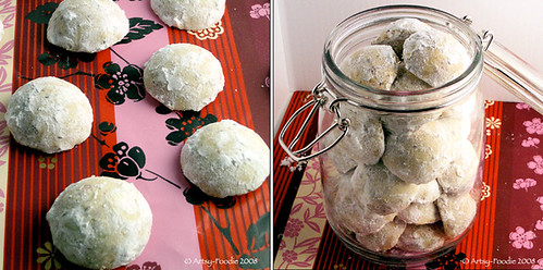 Mexican Wedding Cookies and Cookie jar