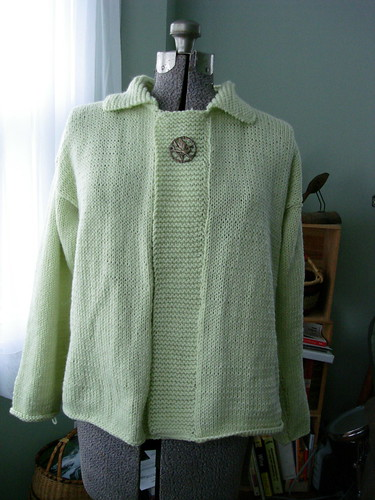 Celery Green Sweater-Front