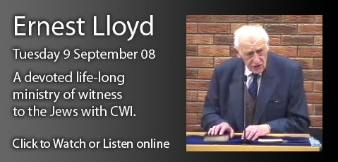 Ernest Lloyd at 96 in Bethany Baptist, Bangor