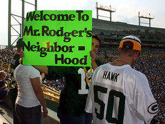 Mr. Rodgers (rachelleb) Tags: packers greenbay lambeau preseason