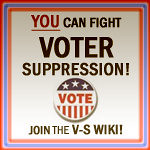voter suppression wiki logo