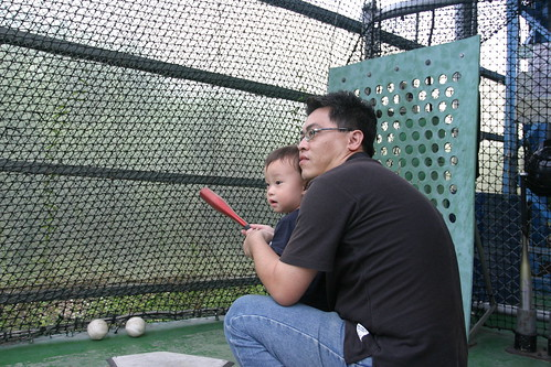 你拍攝的 大魯閣:Min 很認真的看球。