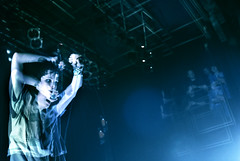 Alice Glass of Crystal Castles (alex poulin) Tags: show girl intense arms montreal live band wideangle health potrait 2008 strobelight crystalcastles nikond80 aliceglass