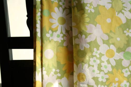 green floral sheet