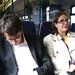 Simon and Nat on the train