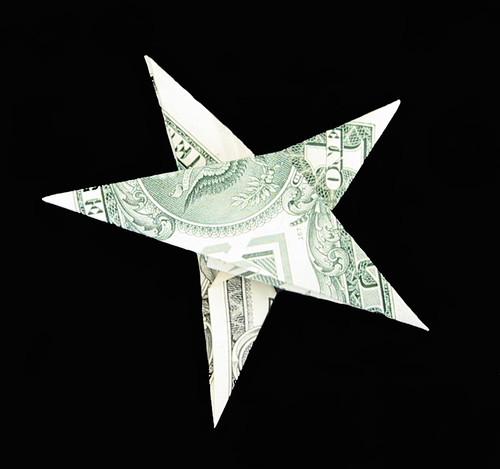 dollar bill origami money origami christmas star