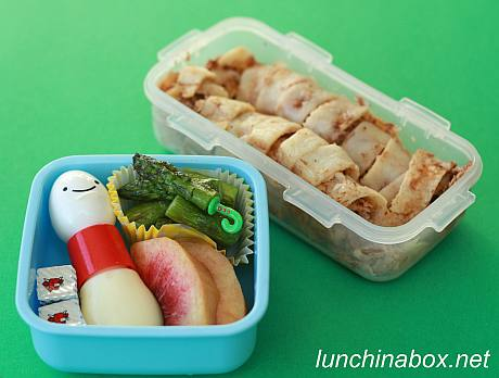 Chicken mole enchilada bento lunch for preschooler
