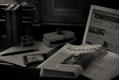 newspaper zeitung apple iphone