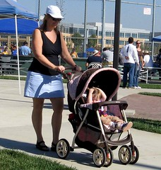 Grandma and Kami on a stroll