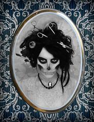 (Bitch von Kicz) Tags: selfportrait eye art photoshop hair witch zombie makeup retro horror cmentary bitchvonkicz medicalart