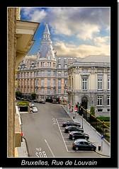 Bruxelles, Rue de Louvain- Brussel, Leuvenseweg (Ftal ( Eric M. )) Tags: brussels architecture landscape bruxelles paysage dri hdr faade photofiltre photomatix pentaxk100d uleadphotoimpact