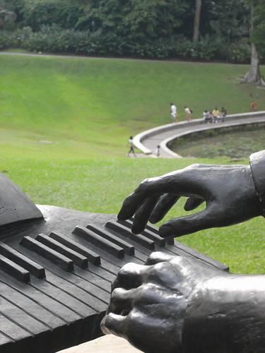 chopin statue, botanic gardens 1