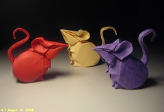 Mice / Chut (ORI_Q) Tags: wet paper mouse origami mice folded 2008 folding tien hoang quyet tt chut giy t gp htquyet
